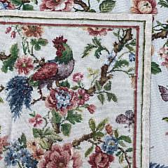 "Diamond & Baratta for Stark ""Roosters & Pheasants Amongst Flowering Foliage"""