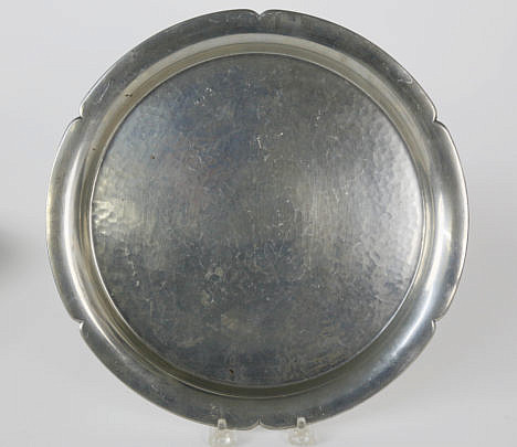 118-4621 Cartier Hammered Pewter Cookie Tray B_MG_5744
