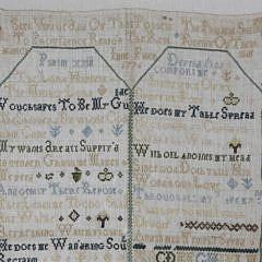 1776 English Needlework Sampler