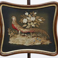 Pair of English Regency Pole Screens, circa 1840