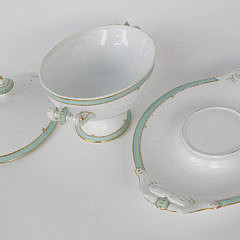 Tiffany & Co. Porcelain Covered Soup Tureen and Underplate