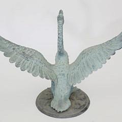 Green Patina Bronze Lawn Goose