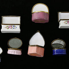 Group of 8  Battersea Enameled Boxes, 18th Century