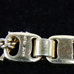 Salvatore Ferragamo Gilt Metal Gancini Necklace