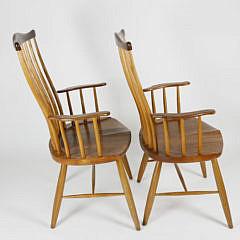 Pair of Stephen Swift Pomfret Windsor Armchairs