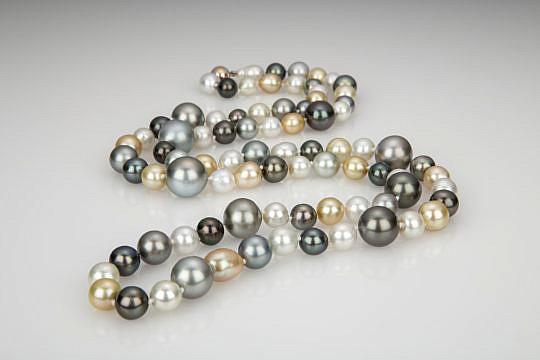 38866 South Sea Pearl Multicolor Necklace AA