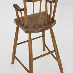 New England Child's Thumbback Windsor Highchair
