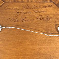 "Sandy Moran Tiger Maple Sailor's Valentine, ""The Lion's Paw"""