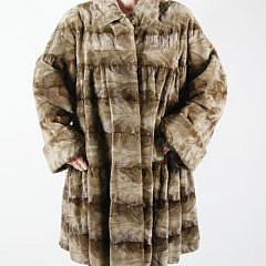 Sheared Mink Swing Coat