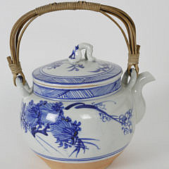 Chinese Blue and White Porcelain Teapot