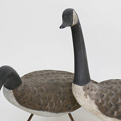 Contemporary American Carved Geese Lawn Ornaments