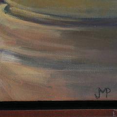 "Jan Purdy Metcalf Oil on Canvas, ""Manny Dias Nantucket Basket Workshop"""