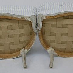 Pair of Louis XV Upholstered Fauteuils, 19th Century