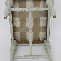 Louis XIV Style Upholstered Stool, 19th Century