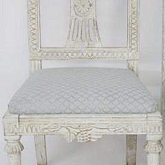 Pair of Swedish Gustavian Style Side Chairs, early 19th Century