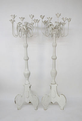 113-4935 Pair of Swedish White Painted Torchieres A_MG_7727