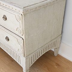 Pair of Gustavian Swedish Lime Washed Dressers, early 19th Century