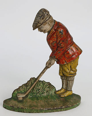 127-4935 Golfer cast iron doorstop A_MG_7884