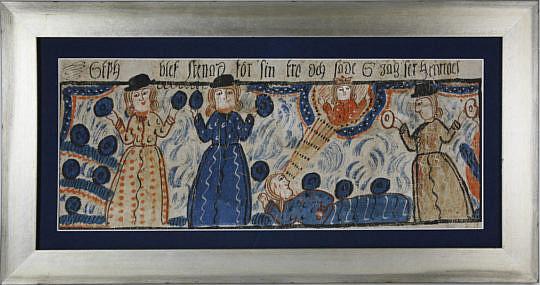13-4935 Bonad, Tempera on Paper depicting 3 women A_MG_7777