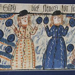 Swedish Folk Art Bonad, circa 1820