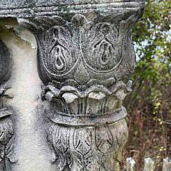 Two Pair of Antique Garden Classical Concrete Twin Columns