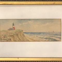 "Lillian Gertrude Smith Watercolor ""Sankaty Light"""