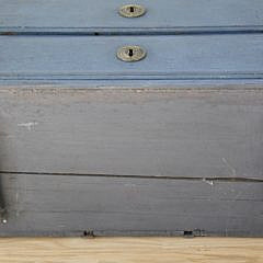 Antique Swedish Gustavian Style Blue Painted Petite Chest on Stand