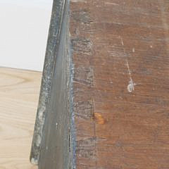 Scandinavian Paint Decorated Dovetailed Pine Blanket Box, 19th Century