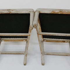 Pair of Swedish Gustavian Style Lime Washed Open Armchairs, circa 1890