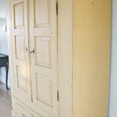 19th Century Scandinavian Yellow Painted Cupboard