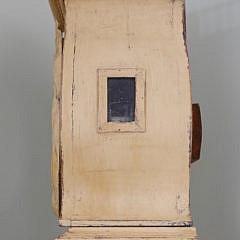 Scandinavian Yellow Painted Tall Case Clock, circa 1870
