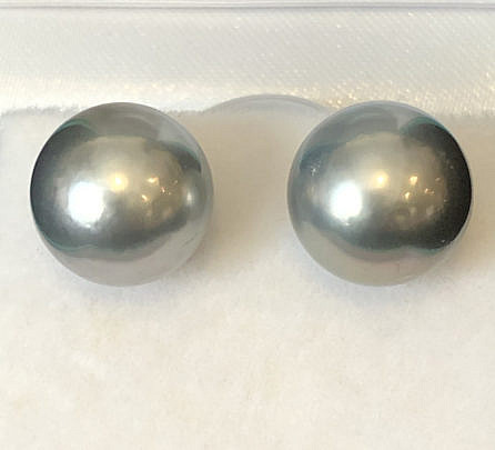40093 11mm Tahitian SS Pearl Earrings B IMG_5583