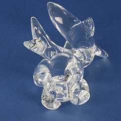 Signed Steuben Clear Crystal Figural Breaching Dolphin