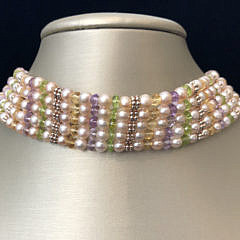 40886 Pearl Peridot Citrine Amethyst Necklace A IMG_5500