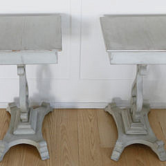 Pair of Antique Scandinavian Square Side Stands