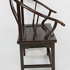 Contemporary Teak Chinese Horseshoe Back Armchair