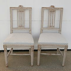 44-4935 Pair of Scandinavian White Washed Side Chairs A_MG_7329