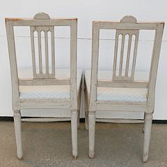 Pair of Gustavian Swedish Upholstered Side Chairs, 19th Century