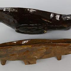 Two Antique Swedish Fish Mousse Molds