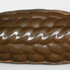 Swedish Brown Glazed Braided Bread Mold
