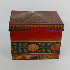 Tony Sarg Hand Painted Lift Top Tin Box