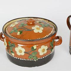 59-4935 German Ceramic Teapot, Creamer and Tureen A_MG_8043