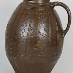 61-4935 Brown Incised Ceramic Jug A_MG_7995