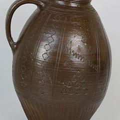 Brown Incised Ceramic Jug