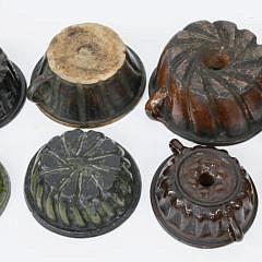 Seven Ceramic Food Molds, 19th century