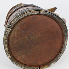 Swedish Painted Wood Tankard, circa 1852