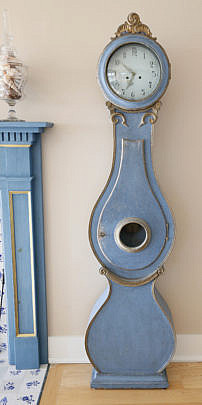 71-4935 Swedish Blue Painted Tall Case Clock AA_MG_7350