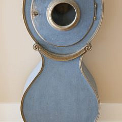 Swedish Gustavian Mora Tall Case Clock in Blue Paint, 19th Century