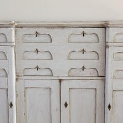 Scandinavian Lime Washed Butler's Secretary, 19th Century
