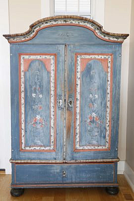 76-4935 Scandinavian Painted Armoire A